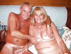 Mature couples undressing