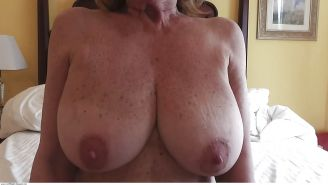 Big Natural Tits Mature Marti Sucks Her Own Nipples