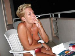 Sex with hot Mature on the balcony  - N. C.