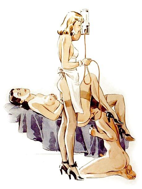 Femdom fetish vintage artwork #1334754