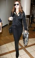 Brooke Shields - Black Satin Blouse