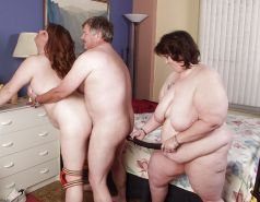 Mature BBW Threesome