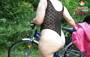 Big Botty Bike - Butt - Ass - Voyeur - Exhib - Public Flash