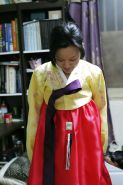 Korean hanbok lady dildo and fuck