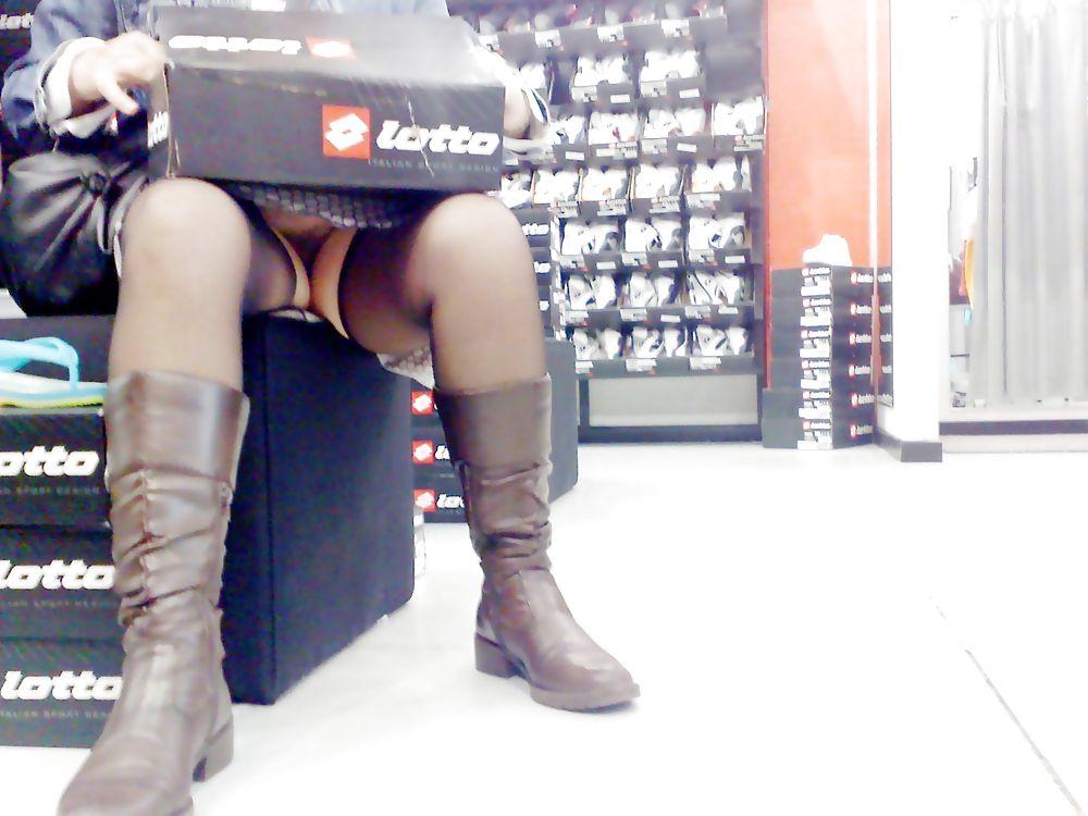 Shopping and flashing ( store voyeur ) Porn Pics #13271460