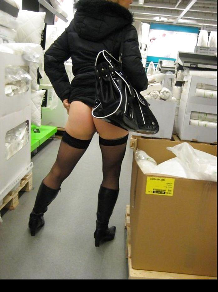 Shopping and flashing ( store voyeur ) Porn Pics #13271586