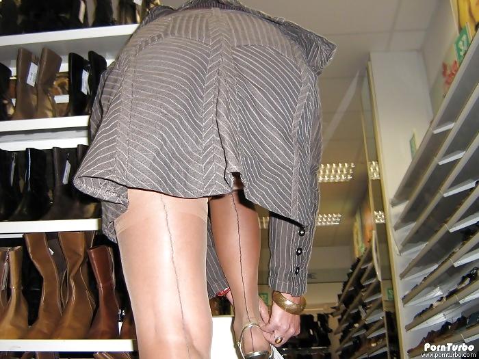Shopping and flashing ( store voyeur ) Porn Pics #13271788