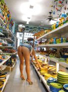 Shopping and flashing ( store voyeur ) #13271860