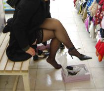 Shopping and flashing ( store voyeur ) #13271948