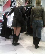Shopping and flashing ( store voyeur ) #13272137