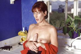 Mature women with toys 1.