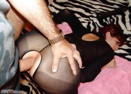 Black stockings anal banging
