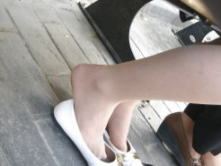 Candid Ballet Flats and Pantyhose in HQ
