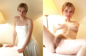 Dressed and undressed beauties 113 (only hairy pussy)
