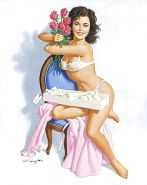 Sexy Vintage Pin - Up Art 2