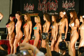 Model hot streetcar showoff 2004 contest tiny bikini contest