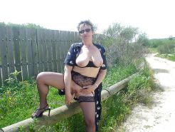Fabienne french mature outdoor