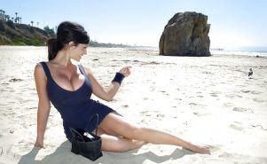 Denise Milani at beach