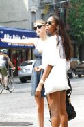 Kate Upton cleavy candids hailing a cab in NYC