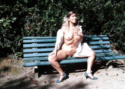 Sluts upskirt and nude on benches 7 #15489547