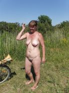 Mature amateur outdoor chubby public panties