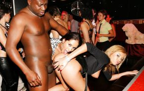 Housewife & girlfriend debauchery in dance clubs