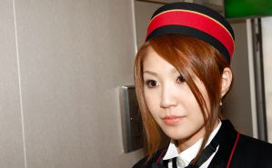 Japanese hotel staff flashing in public