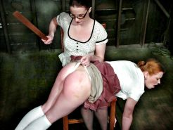 Lesbian whipping and spanking