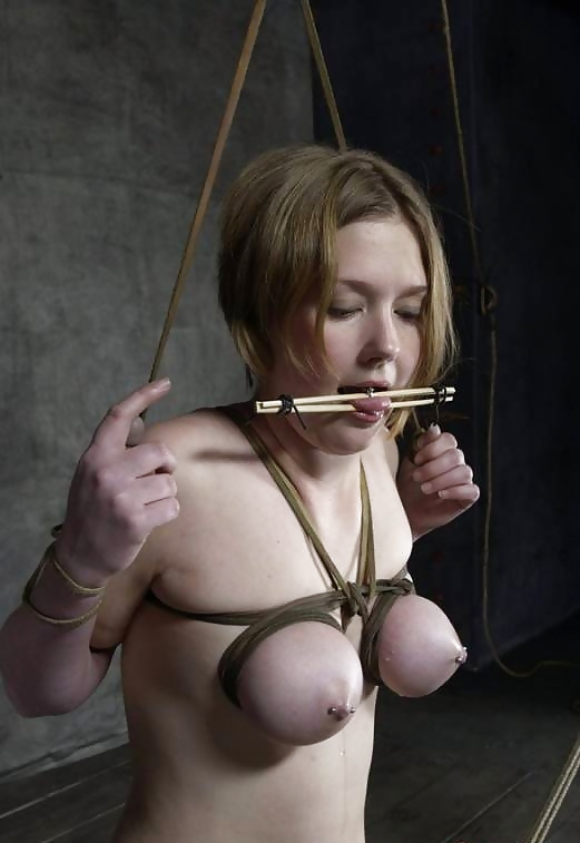 New BDSM pictures ,Breast bondage, HogTied,Slave girls #4072491