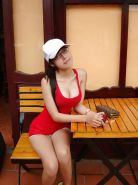 Hot vietnamese girl with cleavage