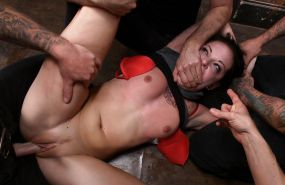 Brutal BDSM Double Penetration Gangbang! Aria - By: FTW88 #10407060