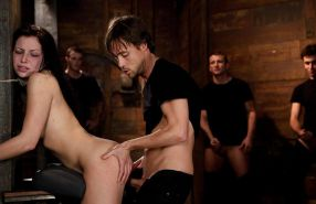 Brutal BDSM Double Penetration Gangbang! Aria - By: FTW88 #10407282