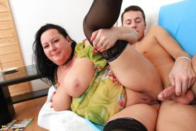 Mother gets a gift and creampie on birthday PART 2