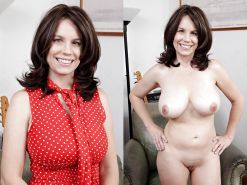 Clothed and Nude 43 Milfs and Matures