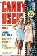 Candy Samples and Uschi Digart on a patio