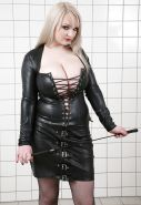 Busty Leather Domme - Micky B