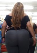 ULTIMATE Thick ASS Latina Milf in YOGAPANTS  VOYEUR