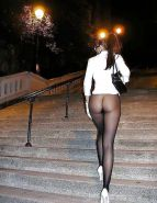 Bottomless babes in Public Nude naked #26375461