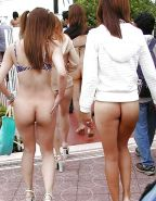 Bottomless babes in Public Nude naked #26375501
