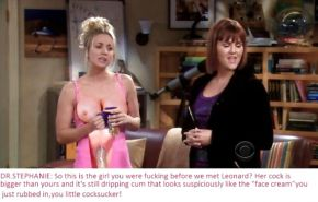 The Big Bang Theory with Kaley Cuoco as shemale