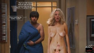 The Big Bang Theory with Kaley Cuoco as shemale #33140675