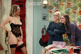 The Big Bang Theory with Kaley Cuoco as shemale #33140711