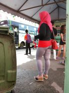 Malay- candid tudung hijab bubble butt