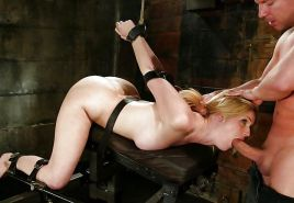 Pain pleasure sexslaves bdsm tied up taped up whipped 2 #35135970