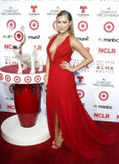 Alexa Vega - Busts Out In Another Red Dress