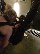 Long latex session with two femdoms