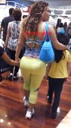FAT Booty MEXICAN mature in leggings! VOYEUR CANDID