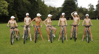 Bicycle nude
