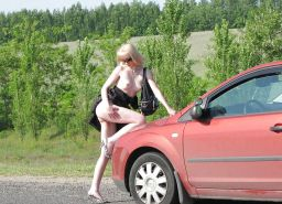 AMATEUR PUBLIC NUDITY: GIRLS FLASING IN CARS #37116917