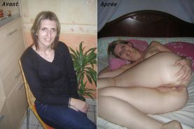 Aline french amateur dressed - undressed 4